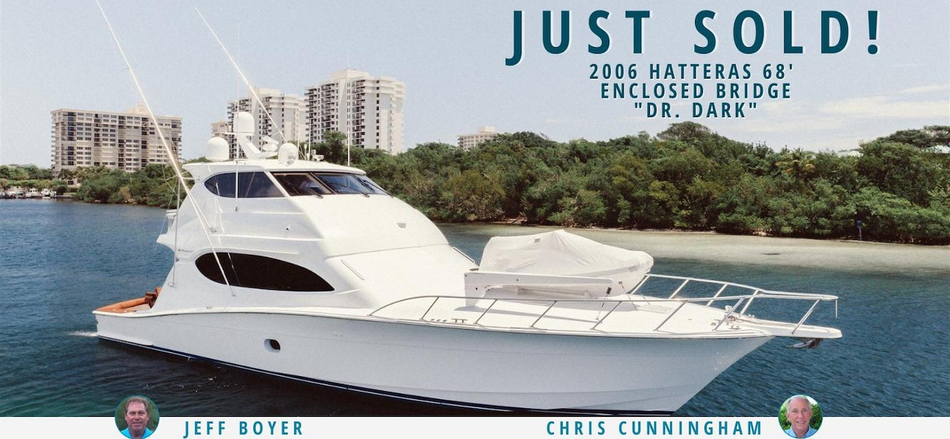 photo of Hatteras 68 Enclosed Bridge Dr Dark Sold By United Yacht Sales