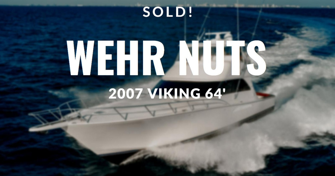 photo of Viking Yachts 64 Convertible WEHR NUTS Sold By UYS Broker Greg Graham