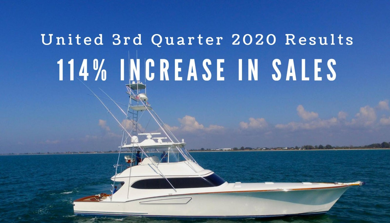 photo of United Yacht Reports 114 Percent Increase In 3rd Quarter Sales
