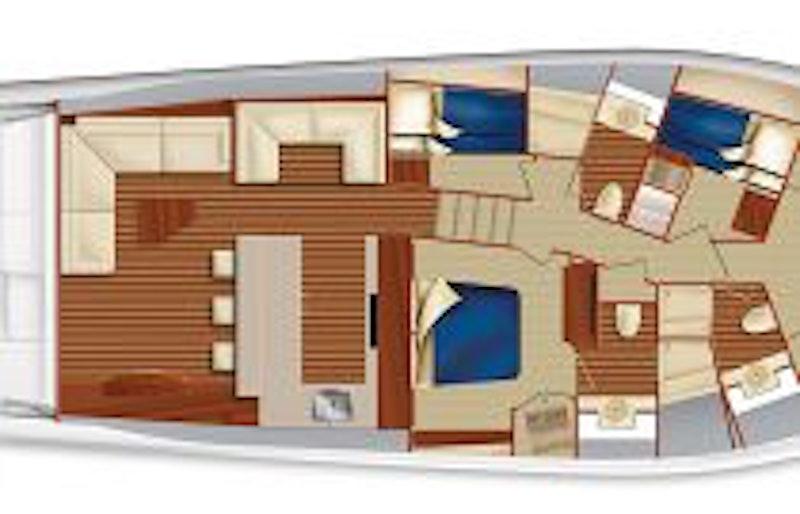 photo of Hatteras GT65 Carolina Lower Deck